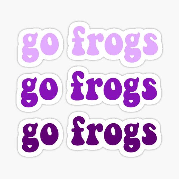 tcu go frogs ombre logo Sticker