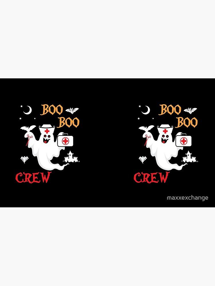 Boo Boo Crew ER EMT LPN Spooky Nurse Moonlit Bat. by maxxexchange