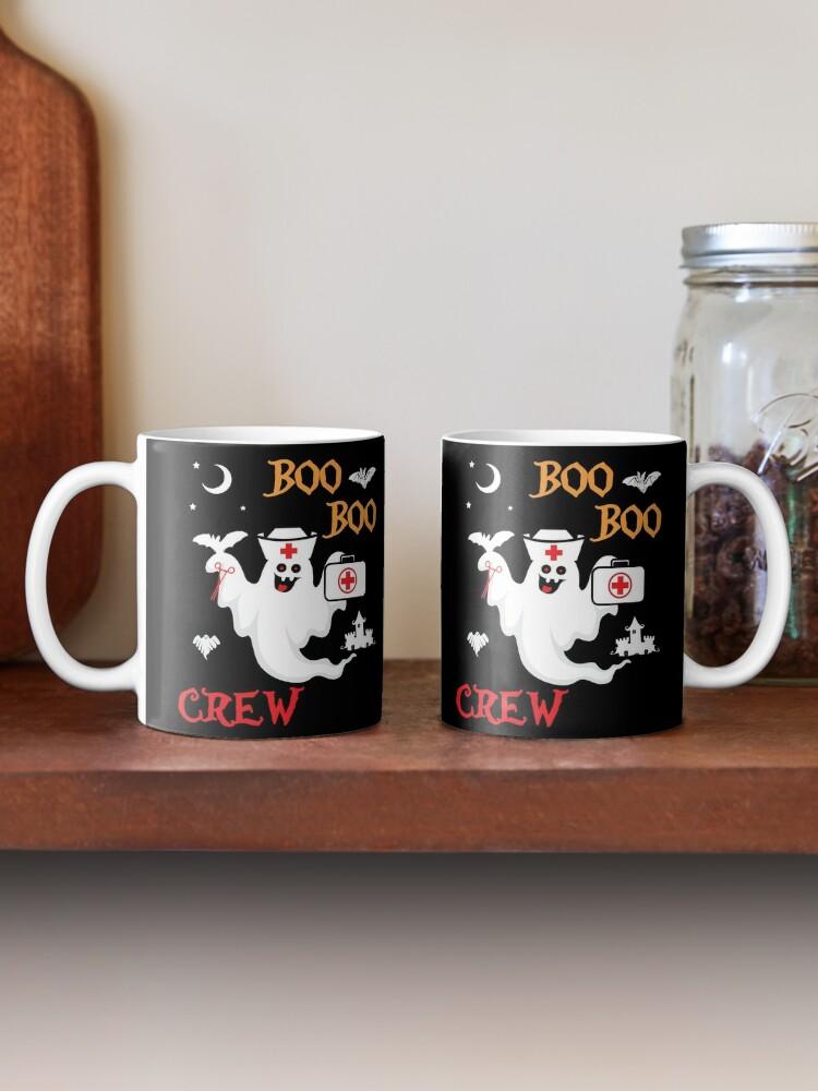 Alternate view of Boo Boo Crew ER EMT LPN Spooky Nurse Moonlit Bat. Mug