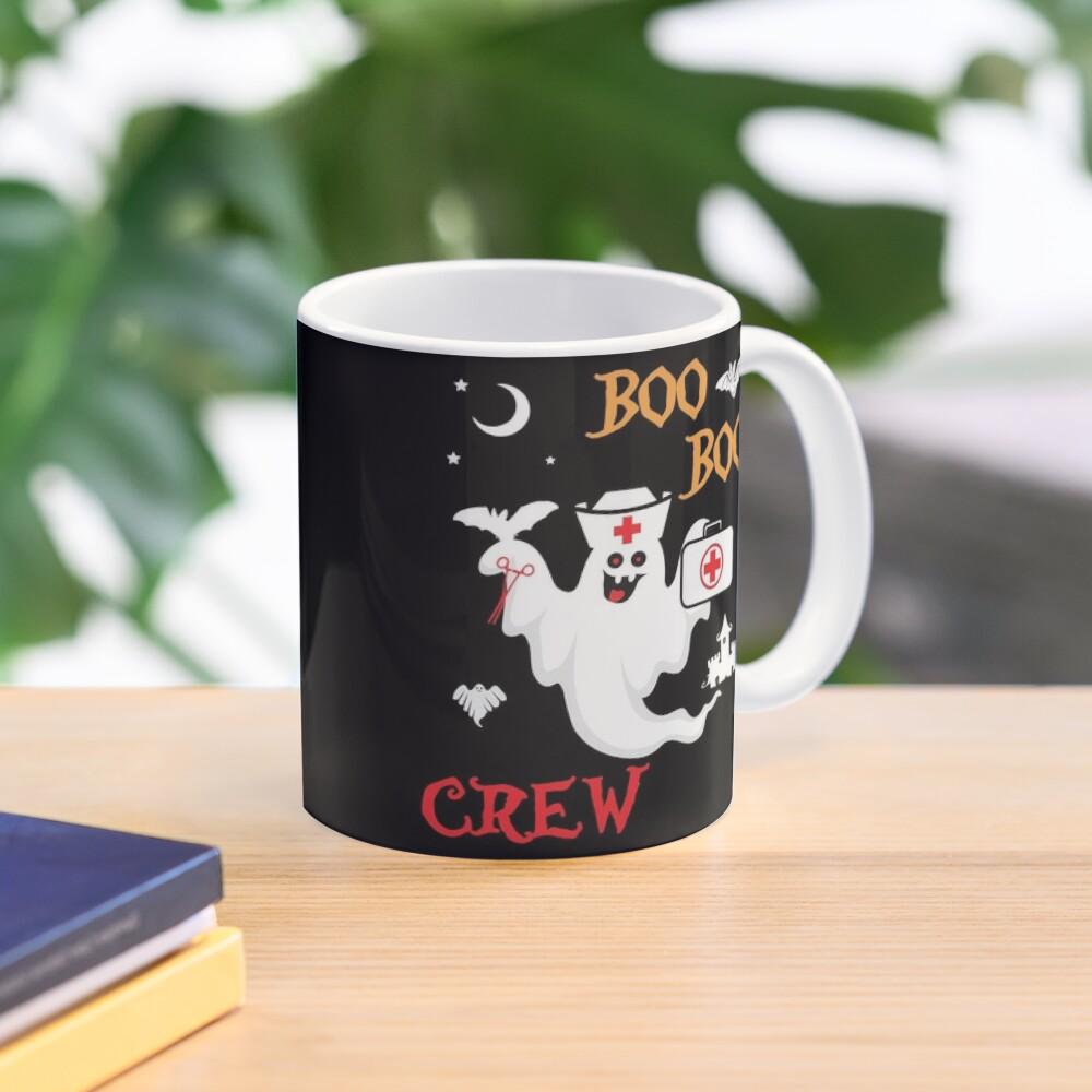 Boo Boo Crew ER EMT LPN Spooky Nurse Moonlit Bat. Mug