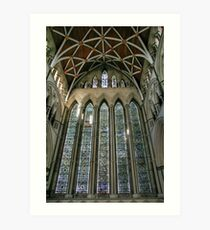 The Five Sisters Window in York Minster Art Print