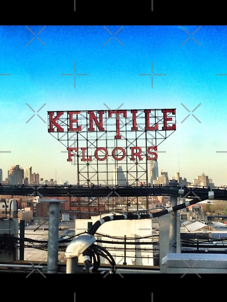 Kentile Floors - Downtown Brooklyn Skyline Photography by OneDayOneImage - Brooklyn Lovers  by OneDayArt