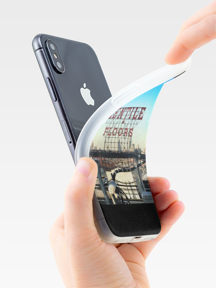 Alternate view of Kentile Floors - Downtown Brooklyn Skyline Photography by OneDayOneImage - Brooklyn Lovers  iPhone Case & Cover