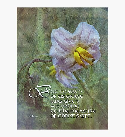 grace is given-inspirational Photographic Print