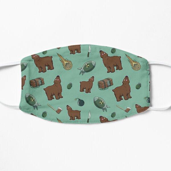 Dumb Bear Danger Pattern (mint) Small Mask