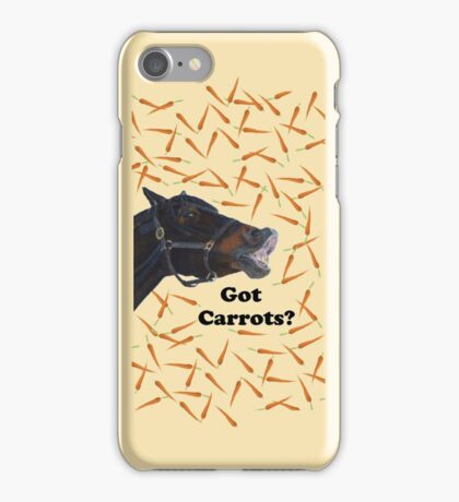 Cute Got Carrots Horse iPhone or iPod Cases iPhone Case/Skin
