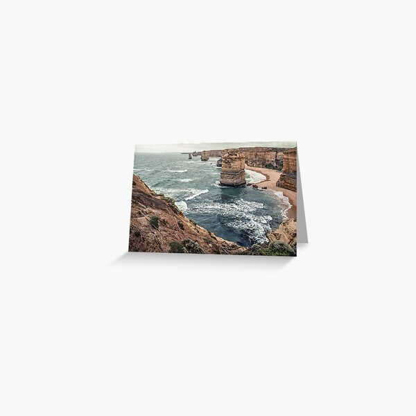 12 Apostles West coast Victoria 19900210 0010  Greeting Card