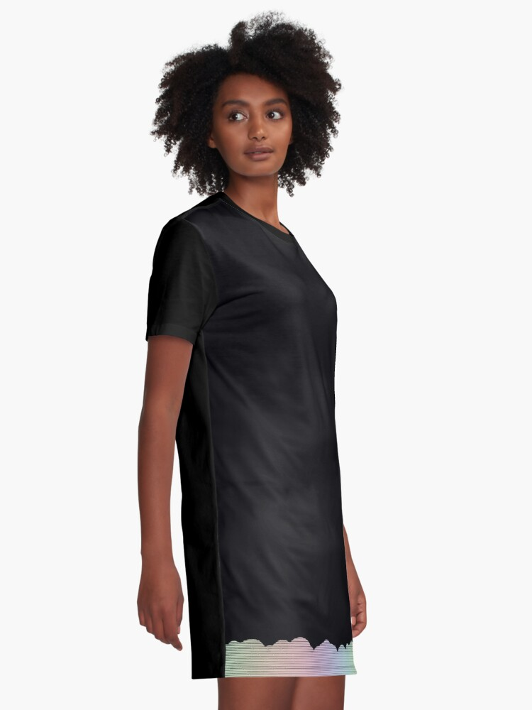 Alternate view of Simple line detail Graphic T-Shirt Dress