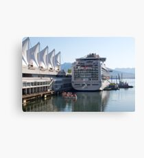 Princess Cruise Liner, Alongside Canada Place, Vancouver 2012. Canvas Print