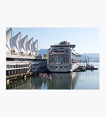 Princess Cruise Liner, Alongside Canada Place, Vancouver 2012. Photographic Print