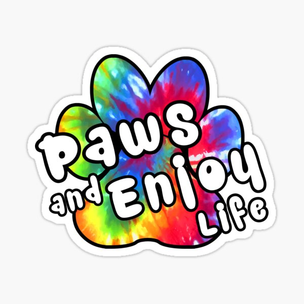 DOG PAWS LOVE DOGS PAW I LOVE MY DOG PET PETS PUPPY STICKER STICKERS DECAL DECALS Sticker
