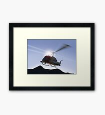 Huey Flyby Framed Print