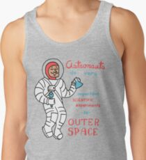 Scientific Astronauts - funny cartoon drawing with handwritten text Tank Top