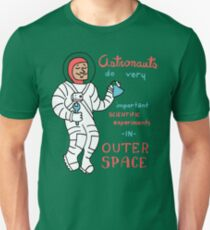 Scientific Astronauts - funny cartoon drawing with handwritten text Unisex T-Shirt