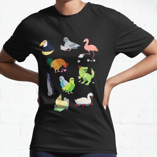 Cute Birds Active T-Shirt