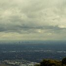 Melbourne Australia from MT dandenong by grorr76
