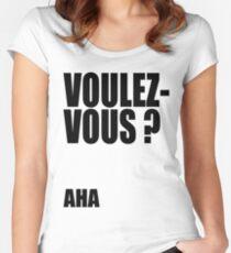Voulez-Vous? AHA! Women's Fitted Scoop T-Shirt