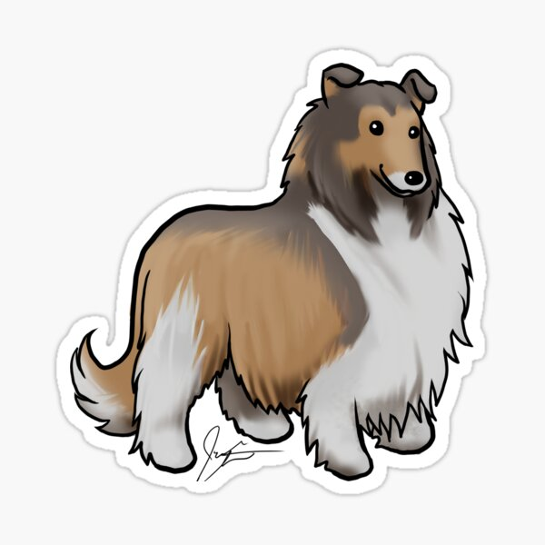 Collie - Tri-Color Copper Sticker