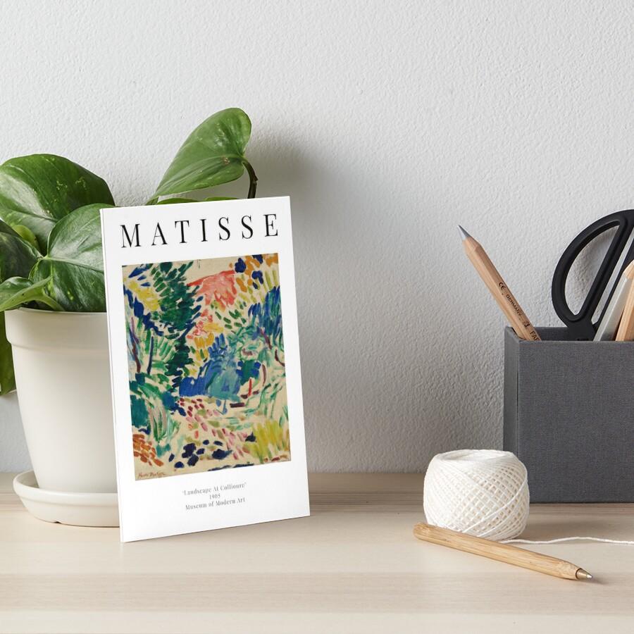 Henri Matisse   Landscape At Collioure   Exhibition Poster   Art Board Print