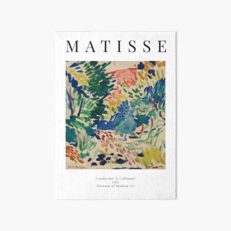 Henri Matisse - Landscape At Collioure - Exhibition Poster Art Board Print