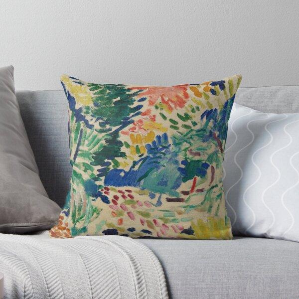 Henri Matisse - Landscape At Collioure - Exhibition Poster Throw Pillow