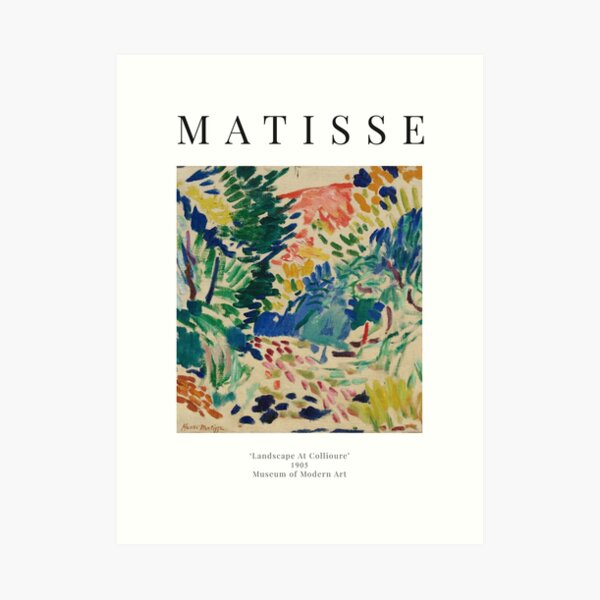 Henri Matisse - Paisaje en Collioure - Cartel de la exposición Lámina artística