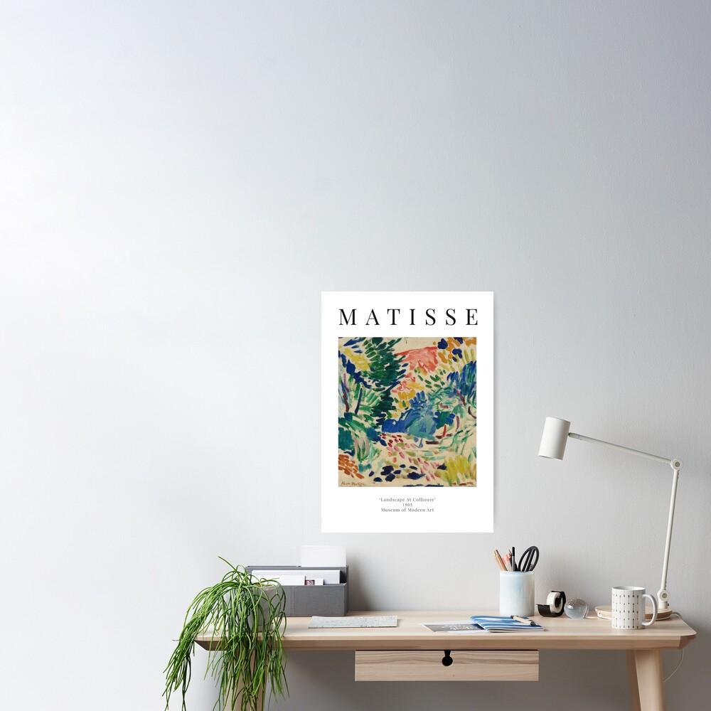 Henri Matisse - Landscape At Collioure - Exhibition Poster Poster