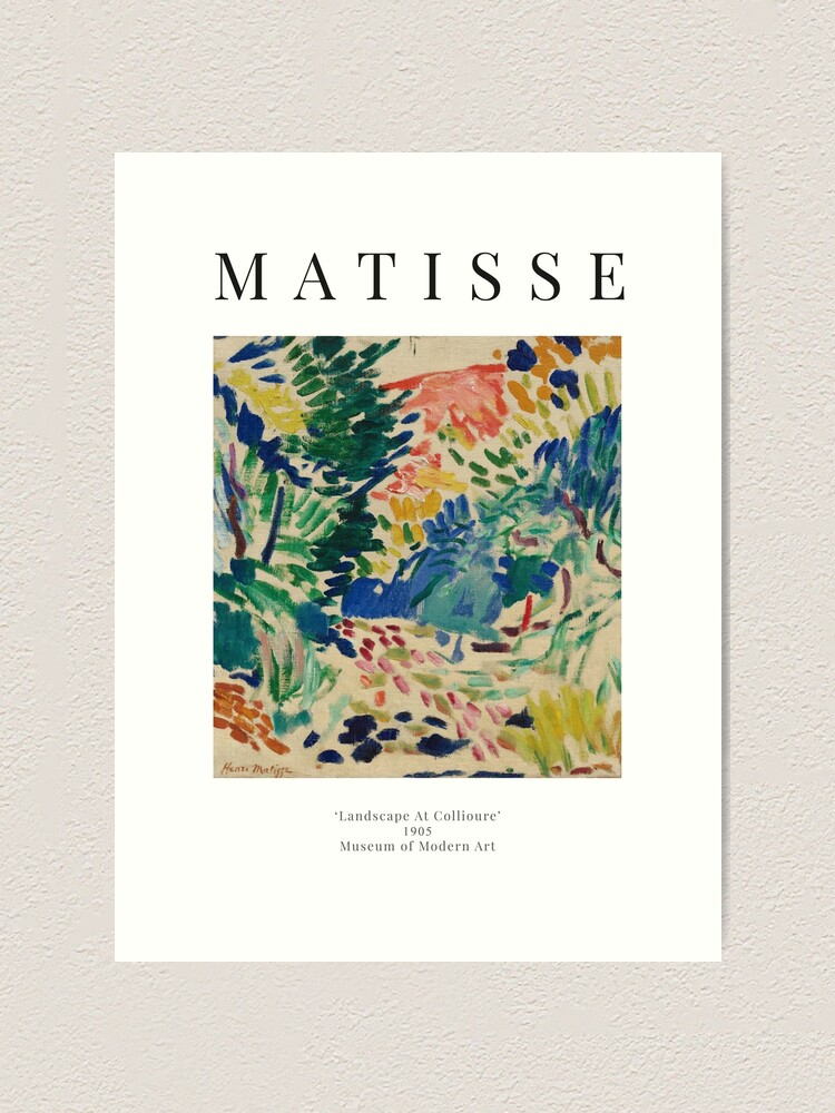 Alternate view of Henri Matisse - Landscape At Collioure - Exhibition Poster Art Print