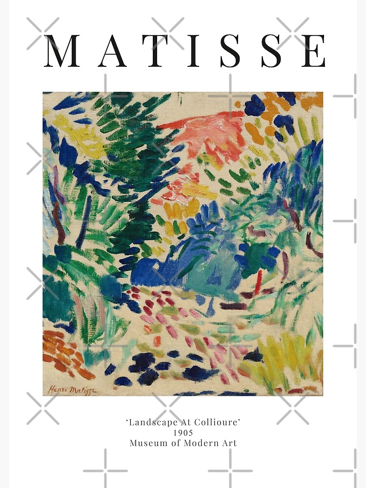Henri Matisse - Landscape At Collioure - Exhibition Poster by studiofrivolo