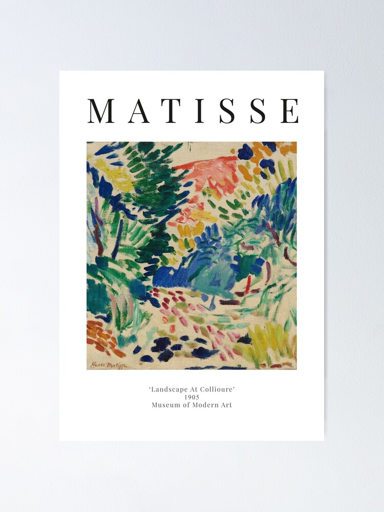 Alternate view of Henri Matisse - Landscape At Collioure - Exhibition Poster Poster