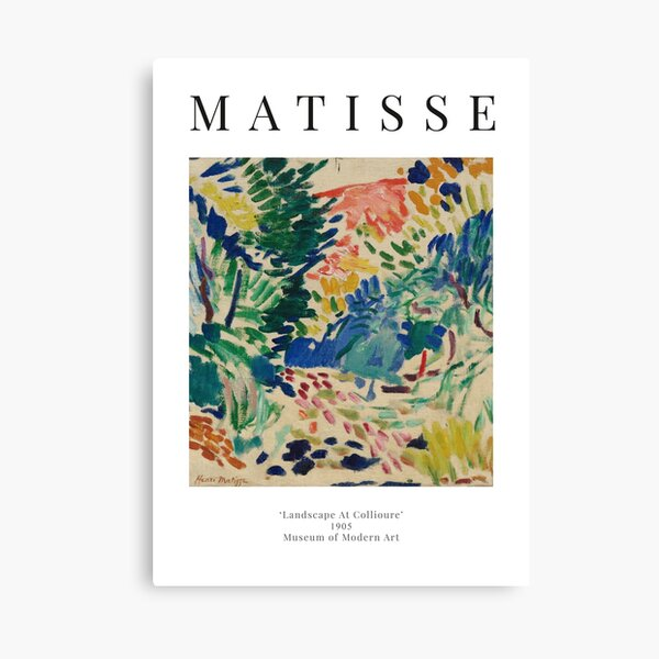 Henri Matisse - Landscape At Collioure - Exhibition Poster Canvas Print