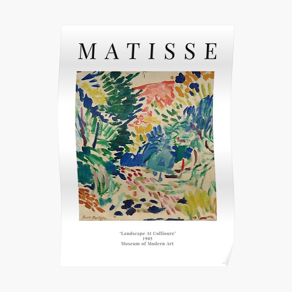 Henri Matisse - Landschaft bei Collioure - Ausstellungsplakat Poster