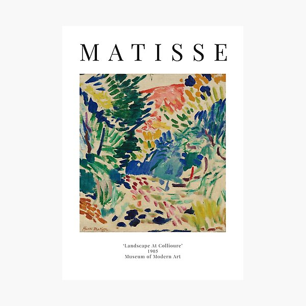 Henri Matisse - Landscape At Collioure - Exhibition Poster Photographic Print