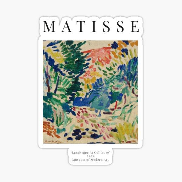 Henri Matisse - Paysage à Collioure - Affiche d'exposition Sticker