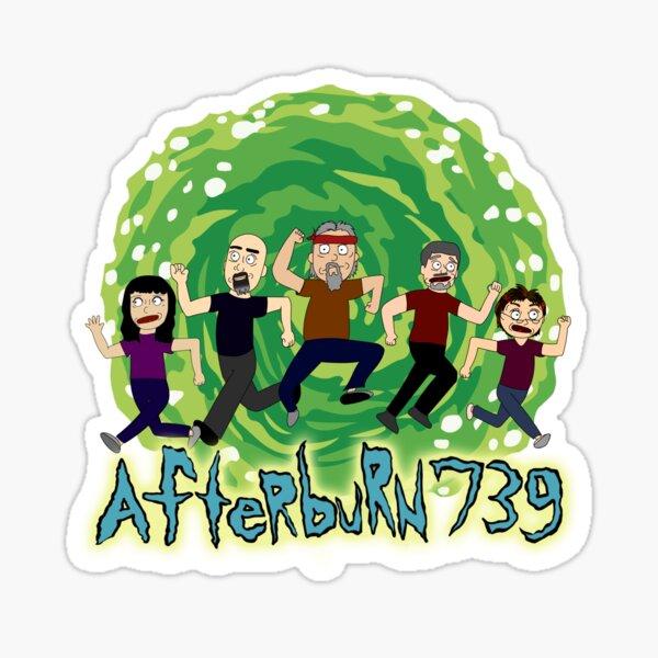 Afterburn R & M Sticker Sticker