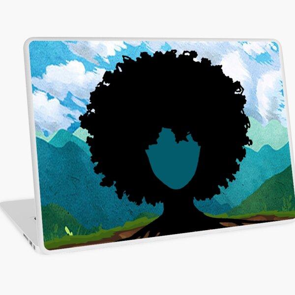 Afro hair tree Laptop Skin