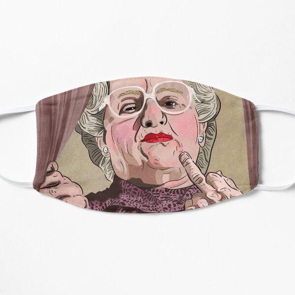 Mrs Doubtfire middle finger - Illustration - Robin Williams - Film  Flat Mask