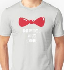 Bowties Are Cool-White Lettering T-Shirt