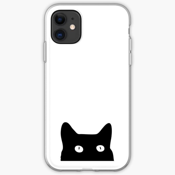 Black Cat iPhone Soft Case