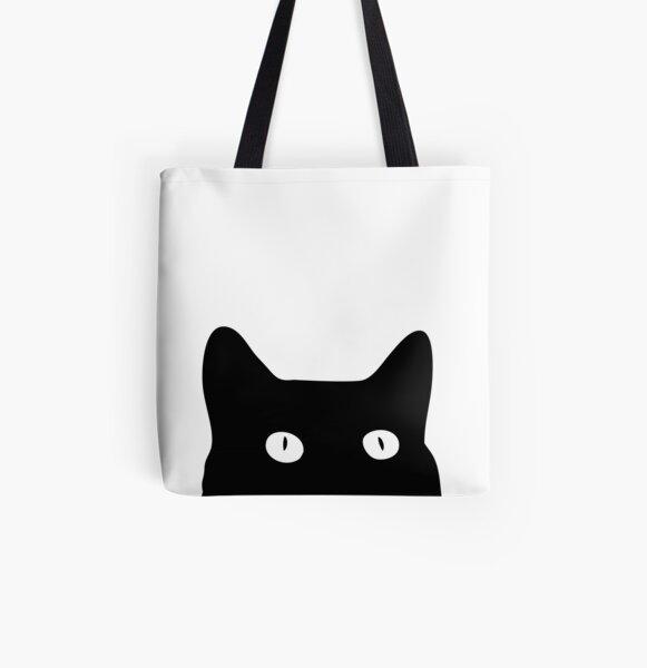 cat Lover Gift Cat Tote Bag cat gift Black /& Whjite Sugar Skull cat tote bag
