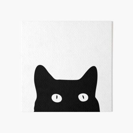 Black Cat Art Board Print
