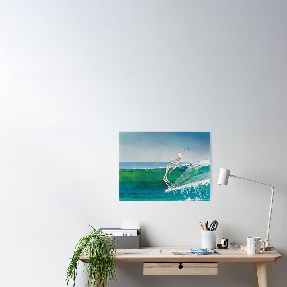 Skeleton Surfer Poster