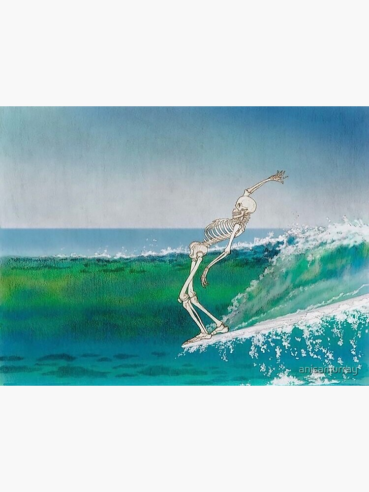 Skeleton Surfer by anisamurray