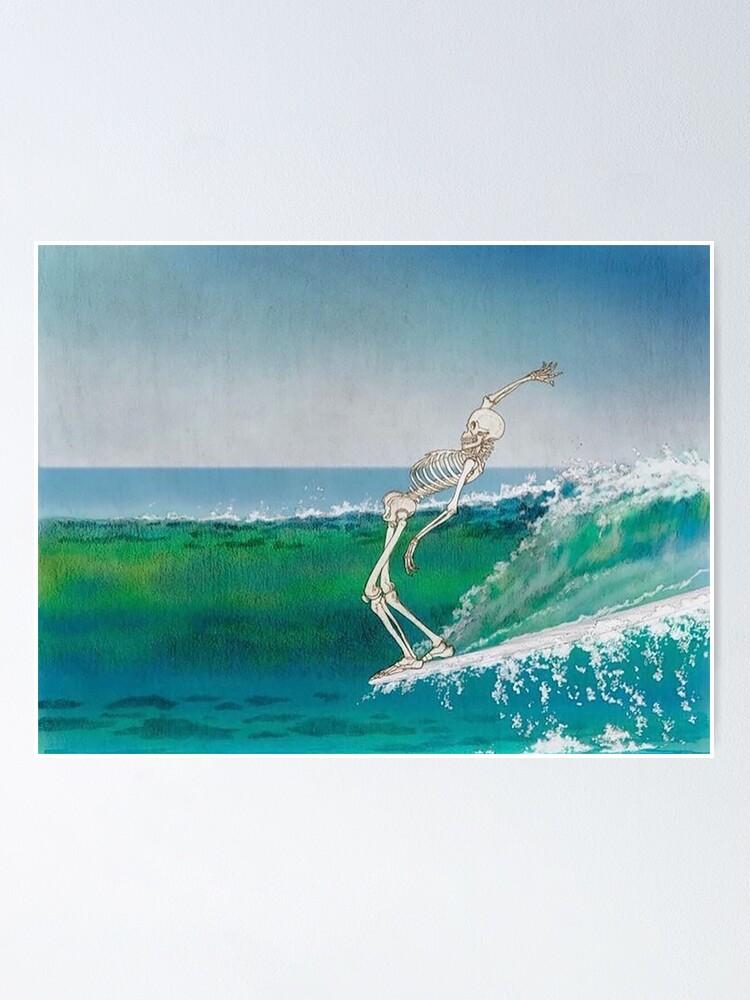 Alternate view of Skeleton Surfer Poster