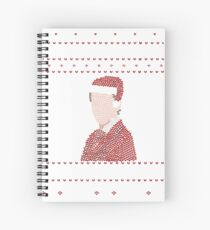 YOU ARE ON MY LIST - ugly christmas sweater Spiral Notebook