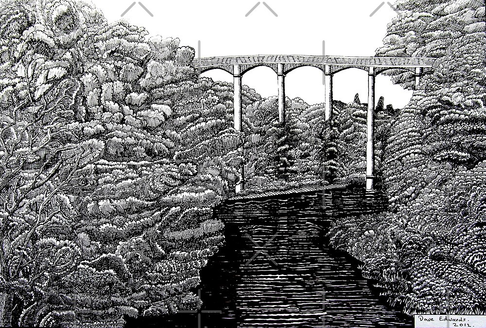 238 - PONTCYSYLLTE AQUEDUCT - DAVE EDWARDS INK - 2012 by BLYTHART