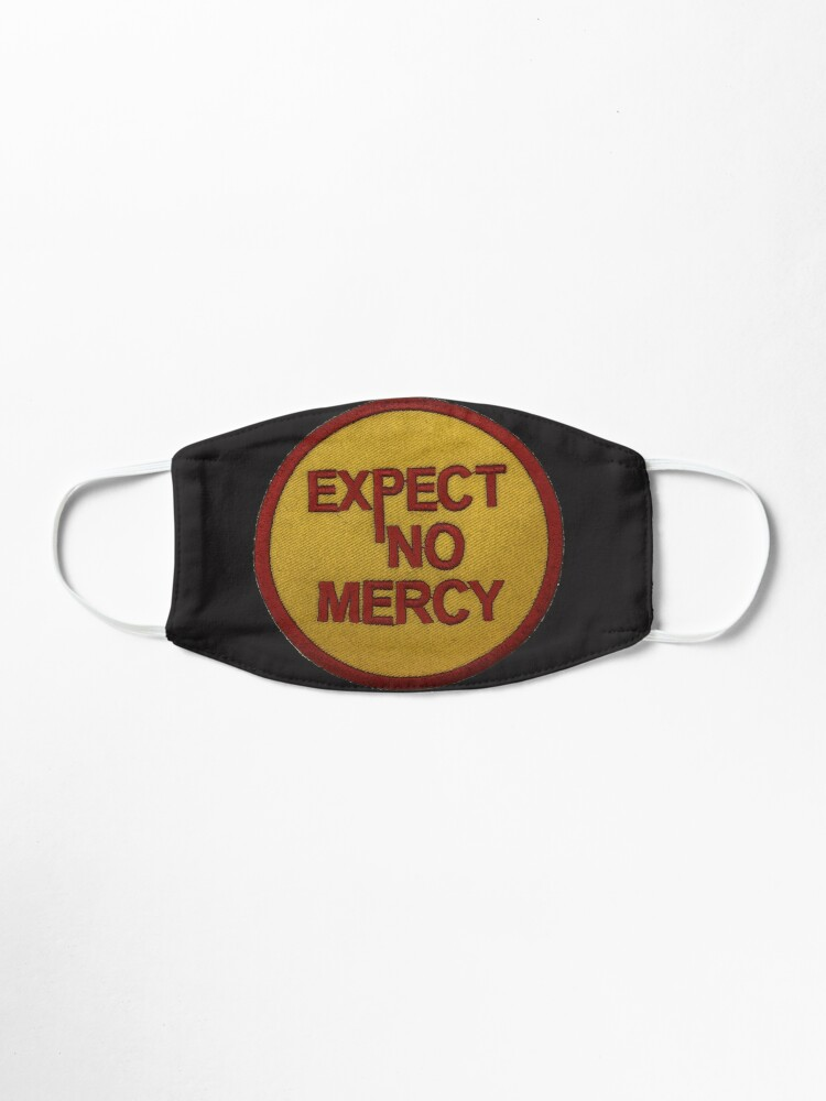 "Alternate view of "" Expect No Mercy"" Motor Cycle Biker Gang Red Gold Bandidos Mask"