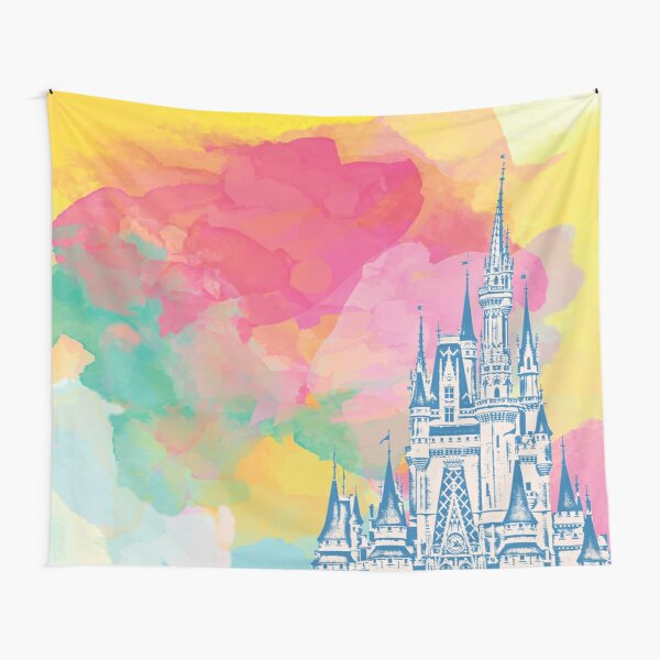 Magic Castle Watercolor II Tapestry