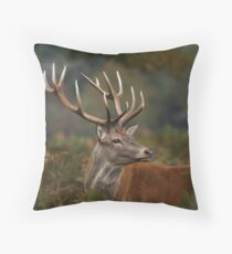 Majestic Red Deer Throw Pillow