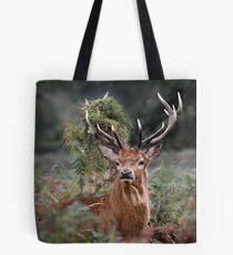 Red Deer Antler Adornment Tote Bag
